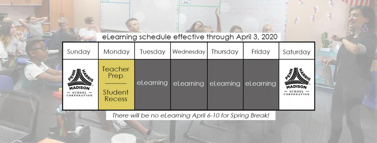 COVID-19 eLearning schedule