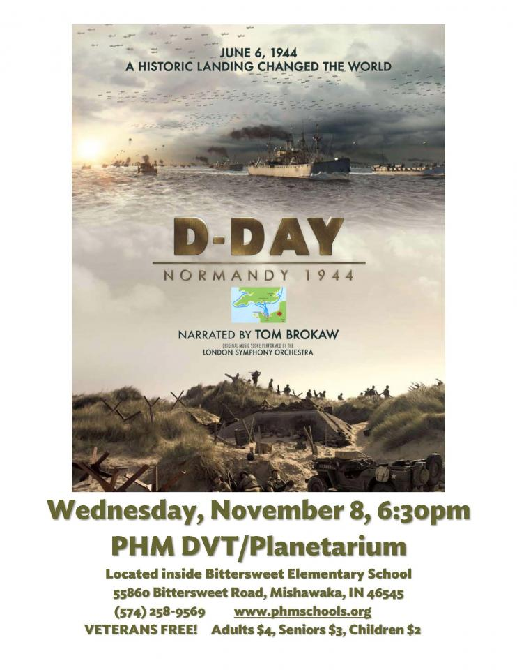 D-Day: Normandy 1944 at the PHM DVT/Planetarium on Wednesday, Nov. 8 at 6:30 p.m.