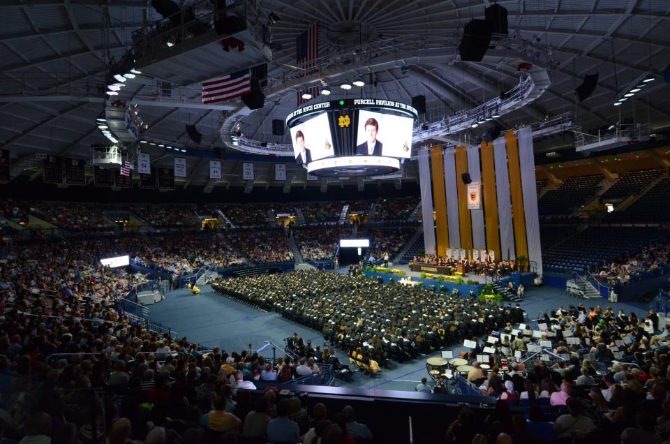 Commencement 2018 at Notre Dame's Purcell Pavilion