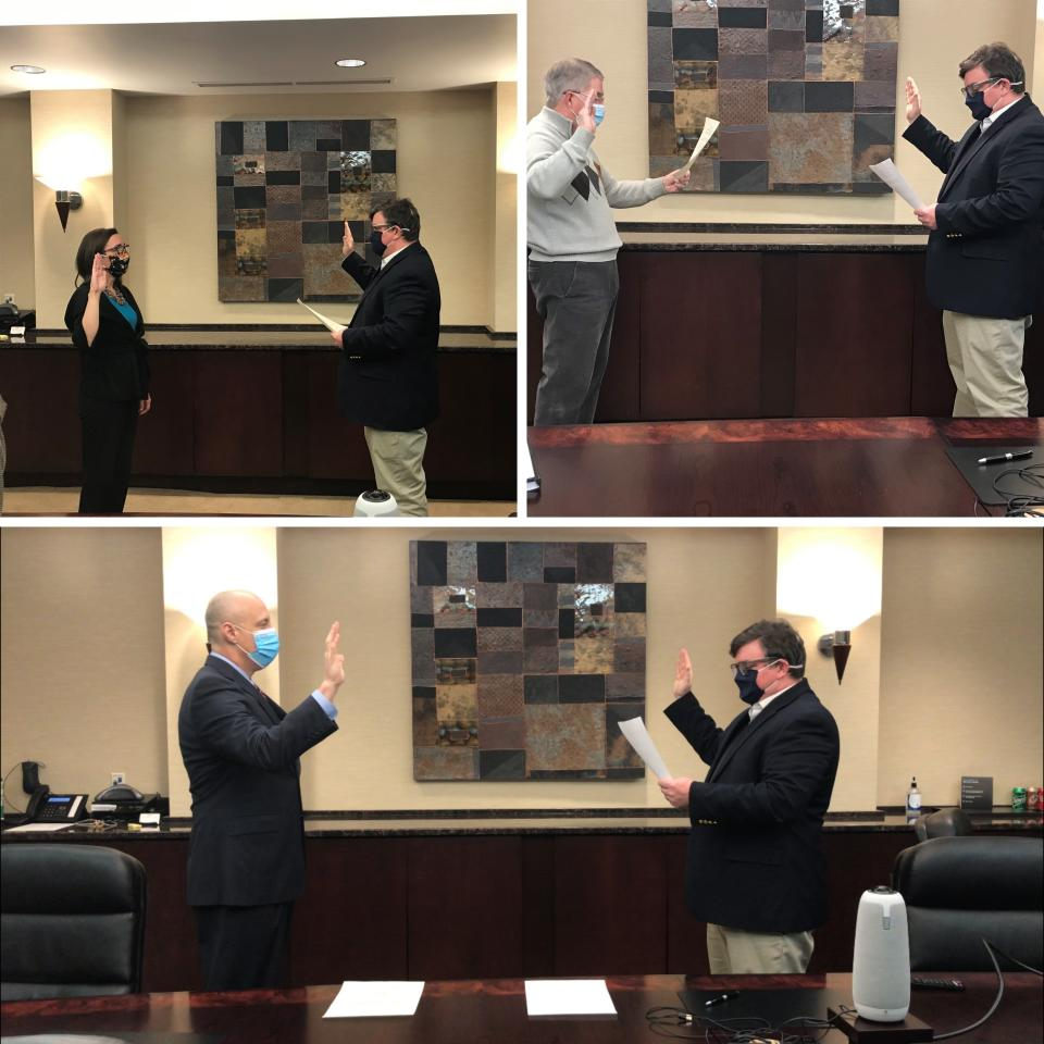 Newly & Re-elected P-H-M School Trustees Sworn-in