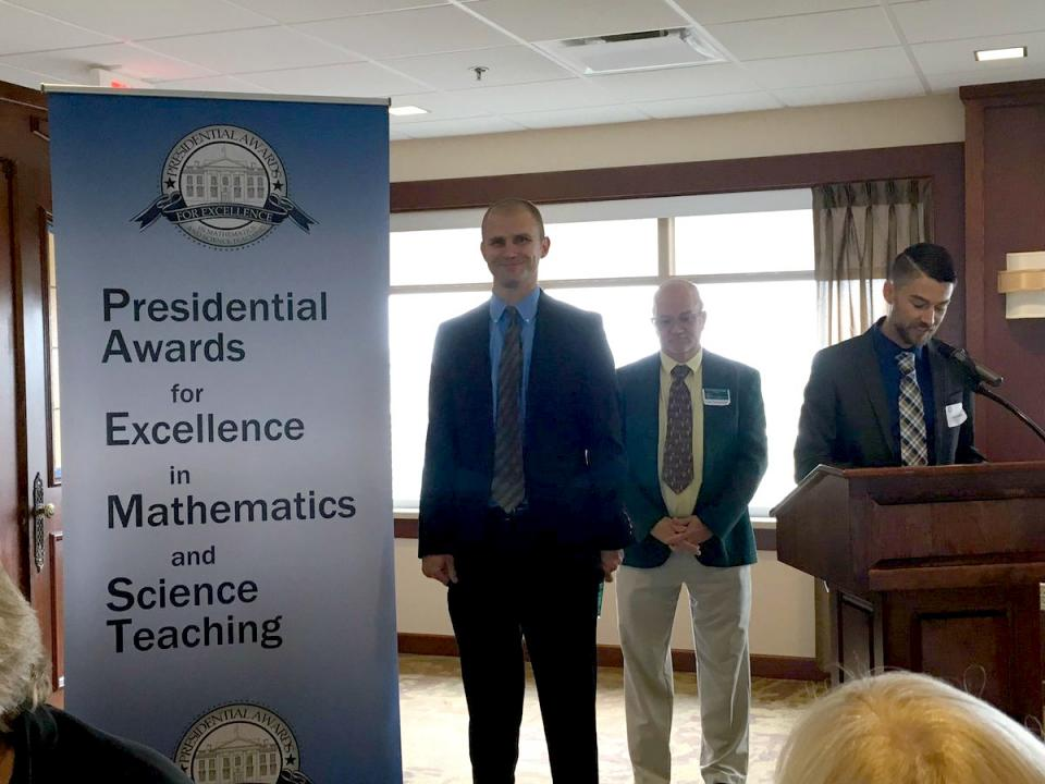 John Gensic recognized in Indianapolis today among Indiana's finalists for the national PAEMST Award