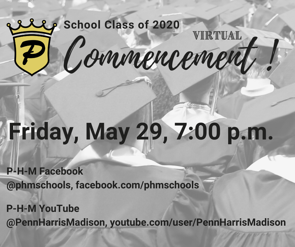 Virtual Commencement, Friday, May 29, 7:00 p.m.