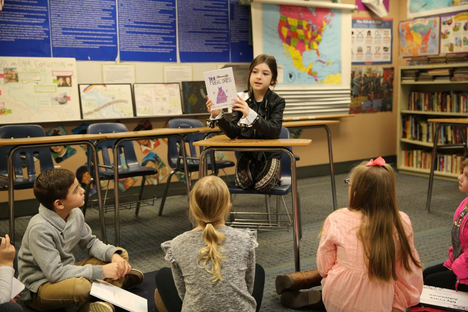 students participating in 2019 Young Authors' Conference