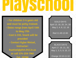 Preschool date and times