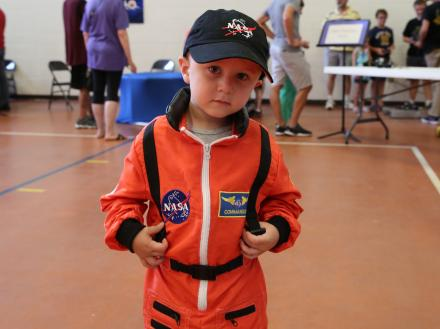 boy in space suit