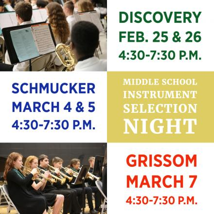2019 Middle School Instrument Selection Nights