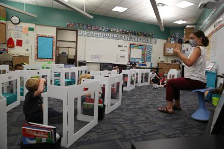 Kindergarten classroom at Bittersweet Elementary School