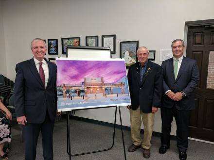 Supt. Dr. Jerry Thacker, Larry Beehler with and Board President Gary Fox (left to right)