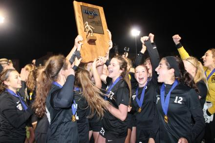 The 2017 State Champion Penn Kingsmen Girls Soccer Team