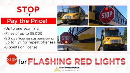 Penalties for not stopping for stopped school buses