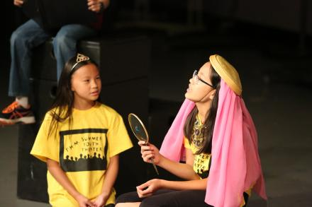 Students participating a play at P-H-M Youth Theater Camp.