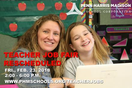 Teacher Job Rescheduled for Friday, Feb. 23, 2018