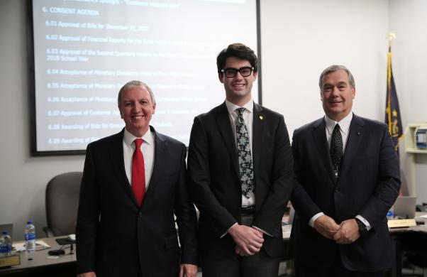 Penn student Matt Forsey chosen for 2018 U.S. Senate Youth PrograPenn student Matt Forsey chosen for 2018 U.S. Senate Youth Program recognized at the 12/11/17 PHM Board Meeting with Supt. Dr. Thacker & Bd. Pres. Gary Fox