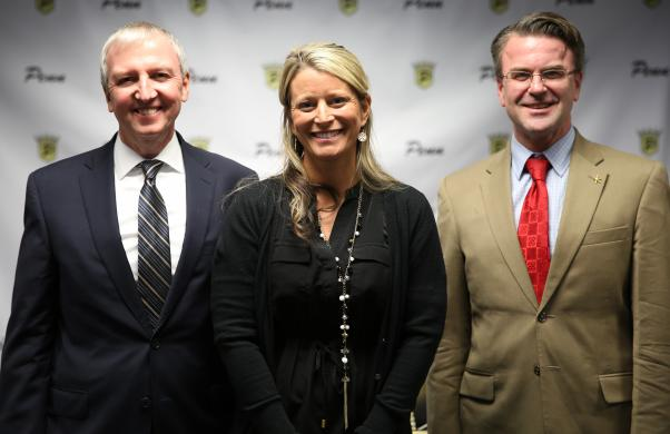P-H-M Supt. Dr. Thacker & Board Pres. Chris Riley recognized Penn Softball Coach Beth Zachary for being named 2016-2017 Central Sectional Coach of the Year