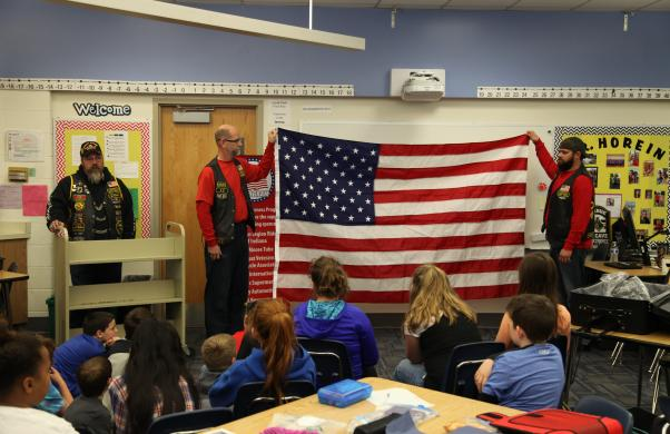 Veterans speak to Bittersweet fifth graders